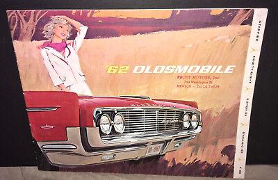Original 1962 Oldsmobile Jetfire Foldout Sales Brochure 62