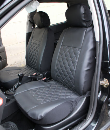 Pair of Luxury KNIGHTSBRIDGE LEATHER LOOK Car Seat Covers RENAULT MEGANE COUPE