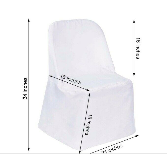 100 Folding Flat CHAIR COVER Wedding Party Decorations Weiß Polyester