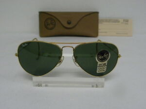 5958e2f6fb New Vintage B L Ray Ban Large Metal Arista Gold G-15 58mm Cable Wrap ...