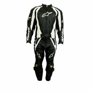 ALPINE-STARS-BLACK-COWHIDE-LEATHER-MOTORBIKE-CE-ARMOURED-2-PIECE-SUIT