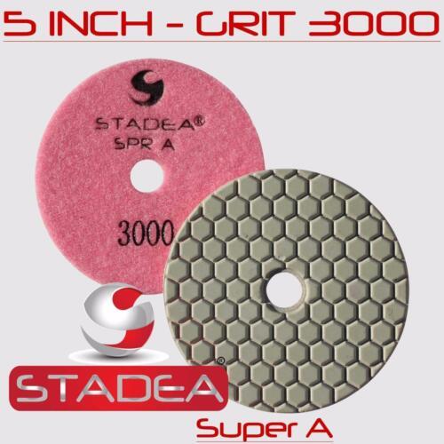 "Stadea 5/"" Dry Diamond Polishing Pad Stone Granite Terrazzo Floor Polishing"
