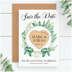 Save-The-Date-Wooden-Heart-Magnets-PERSONALISED-Eucalyuptus-Save-The-Date-Cards