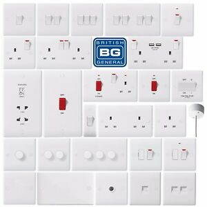 BG-Nexus-White-Moulded-Light-Switches-amp-Plug-Sockets-Complete-Range-Round-Edge