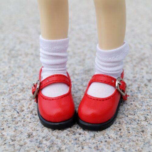 """Red Flats Shoes Synthetic Leather For 1//6 11/""""  BJD YOSD DK DD DZ DOLL"""
