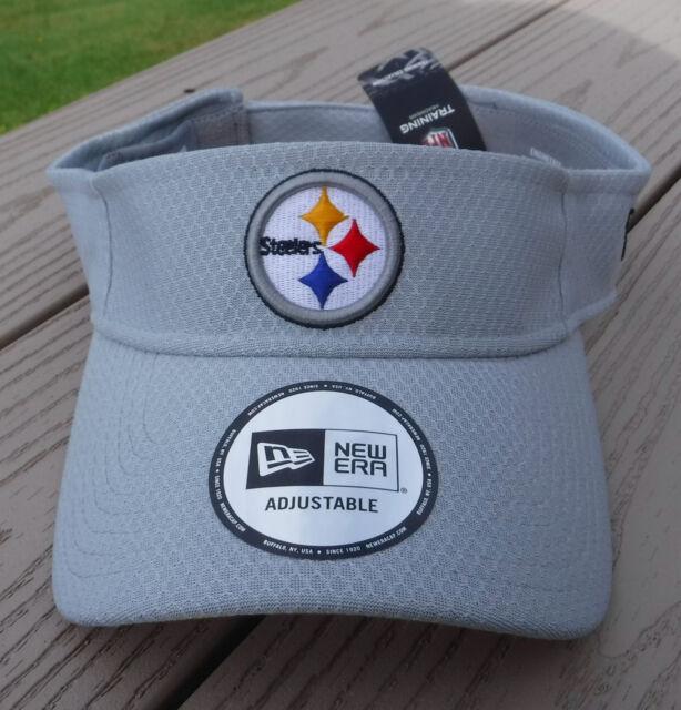 Era Pittsburgh Steelers Gray 2018 Training Camp Official Visor  d3c78d219