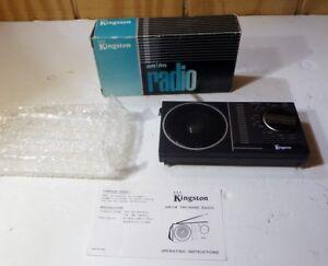 Details about Vintage Kingston Portable AM FM Transistor Radio Brand NIB  Never Used (SU9)