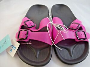 45afea39ff3 NEW Just Be Womens Hot Pink Sandals Slides Size 9 New With Tags Flip ...