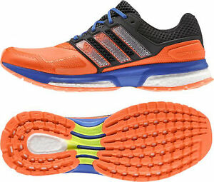 low priced 49b3d 42175 Das Bild wird geladen ADIDAS-RESPONSE-BOOST-2-techfit-B33514-orange-black-
