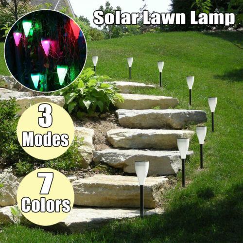 Outdoor 7 Color Changing LED Solar Light Waterproof Garden Landscape Lawn Lamp