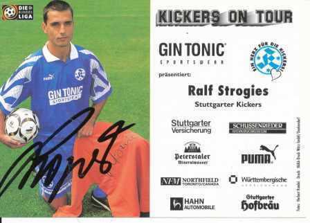 AK 2927 Ralf Strogies SV Stuttgarter Kickers 97//98