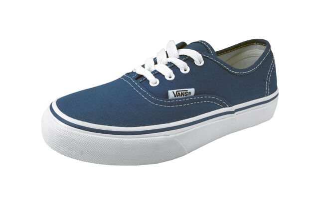1db6ab4d06 Vans Authentic Canvas Shoes Kids Children Youths Boys Girls Navy Blue  Sneakers