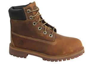 Dettagli su Timberland Earthkeepers 6 Inch Prem Junior Lacci Marrone Pelle Stivali 80904 WH mostra il titolo originale