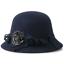 BINGYUANHAOXUAN-Women-039-s-Winter-Bucket-Hat-Vintage-Sweet-Cute-Felted-Wool-Floppy thumbnail 6
