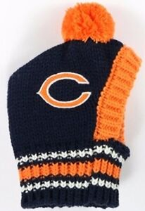 99578f04b Chicago Bears NFL Official Pet Wear Knit Ski Hat for Dogs in Size ...
