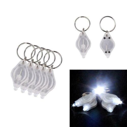 10Pcs LED Schlüsselanhänger Taschenlampe Schlüsselleuchte Blitzlicht Hot Sale Ho