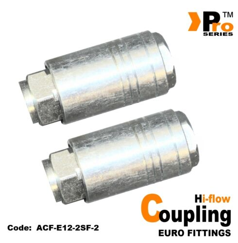 TWIN PACK - 1/4'' BSP Female PCL Style Quick Release Coupling  001