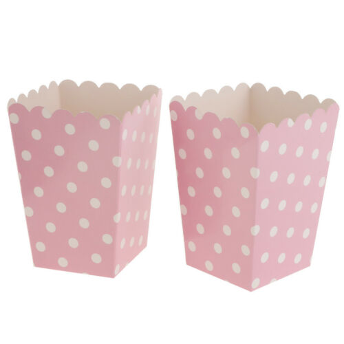 12Pcs Polka Dots Popcorn Boxes for Family Movie Night Birthday Party Favors