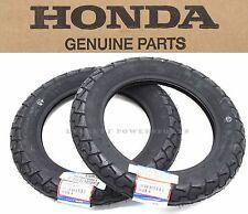 Genuine Honda Tires Set 2.50-10 ALL NQ50 Spree, 88-90 SB50 SB50P Elite 50 #Q66