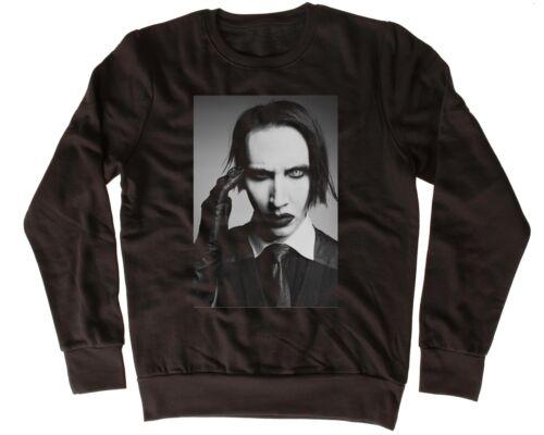 Drôle Cool Marilyn Manson Noir Unisexe Sweat