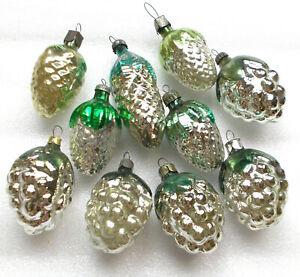 10-Antiker-Russen-Christbaumschmuck-Glas-Weihnachtsschmuck-Ornaments-Pinecones