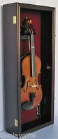 Violin Bow Music Display Case Wall Shadow Box Cabinet W/lock : Vd01
