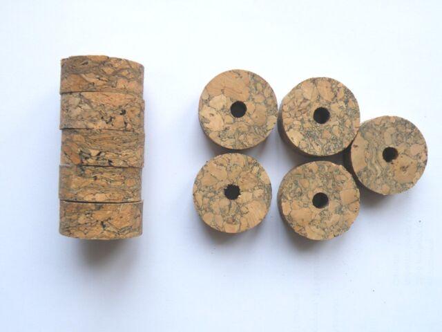"10 BROWN BURL CORK RINGS 1 1//4/"" D x 1//4/"" H x 1//4/"" I.D."
