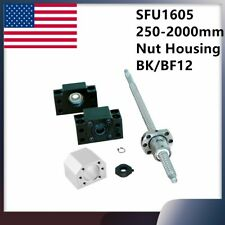 Cnc Ballscrew End Machined Sfu1605 With Nut Housing Amp Bkbf12 Support 250 2000mm