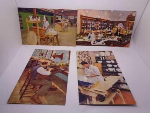 Set of 4 Royal Worcester Porcelain Co. Ltd. Advertising POSTCARDS Raphael Tuck