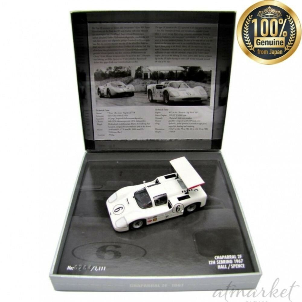 Kyosyo Mini Car 436671406 champs DP 1 43 Chaparral 2F Sebring 1967 SPENCE HALL