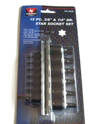 15pc AIR IMPACT TORX STAR SOCKET SET