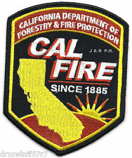 """Wildland - Cal. Dept. of Forestry & Fire Pro., CA  (3.5"""" x 4.5"""" size) fire patch"""