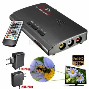 1080P HDMI DVB-T-T2 TV Box VGA/AV Tuner Receiver Converter with remote control