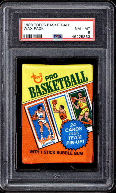 1980-81 Topps Basketball Unopened Pack PSA 8 NM-Mint Bird Magic Johnson *883