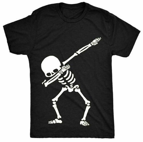 HippoGem Dabbing Skeleton Luminous Glow Party Children Kids Unisex T Shirt