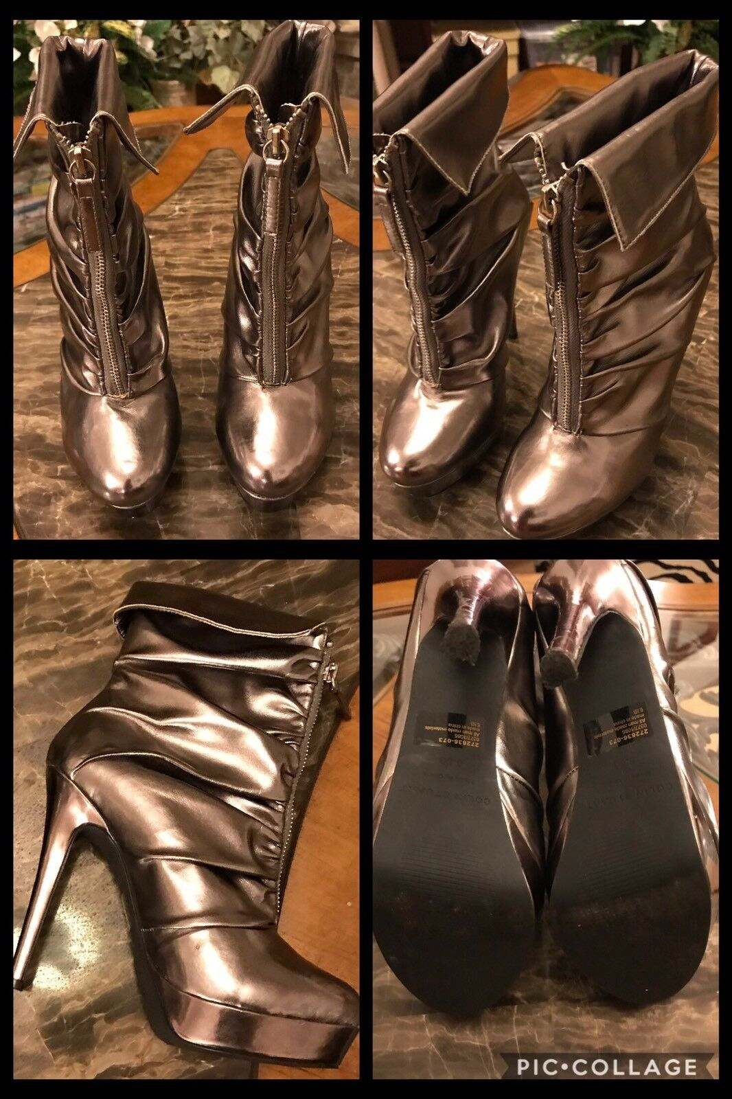 ANKLE BOOTS Silver Metallic 5