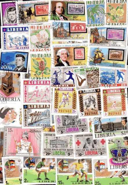 Liberia 500 briefmarken unterschiedliche