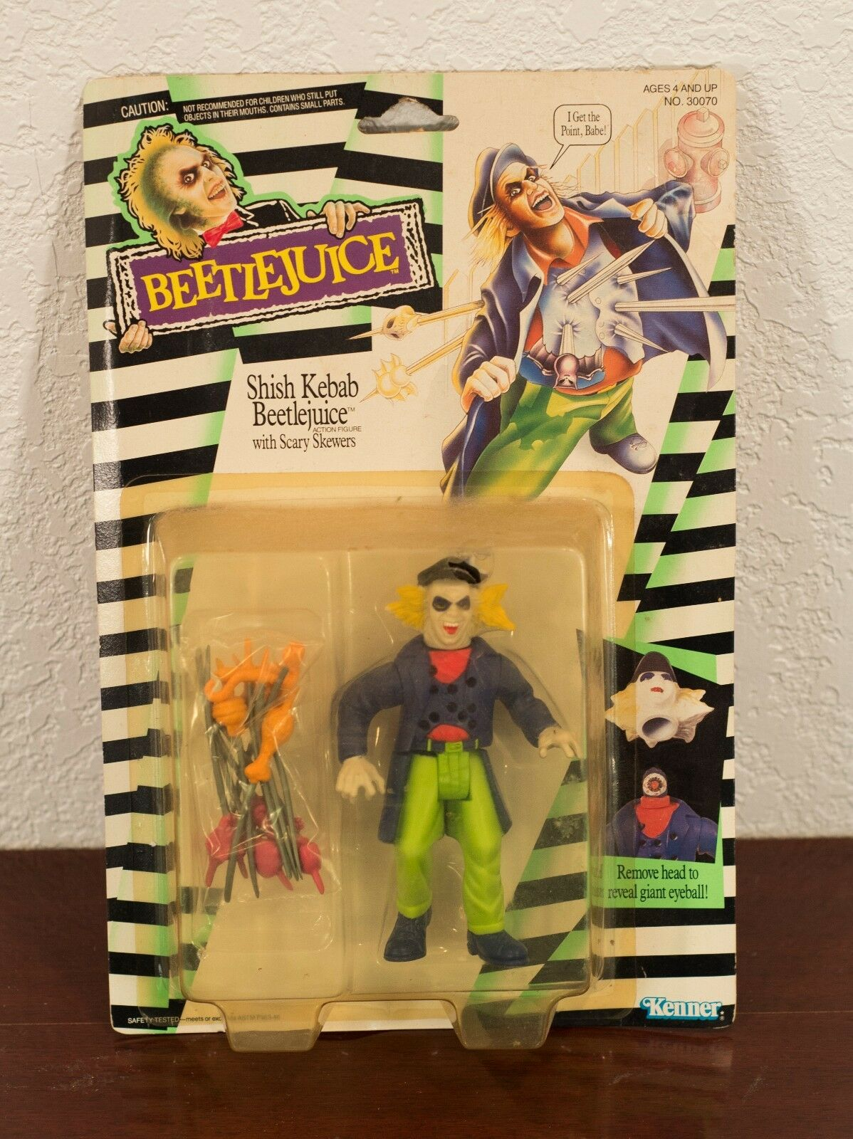 1989 BEETLEJUICE SHISH KEBAB BEETLEJUICE ACTION FIGURE MOC