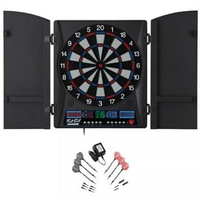ElectronX Electronic Soft Tip Dartboard Tournament Center Wood Cabinet DARTS