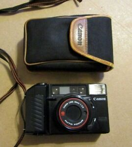 Canon-Sureshot-38mm-1-2-8-Lens-AF-Compact-35mm-Camera-with-case
