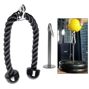 Weight Plate Loading Pin Holder Stand Pull Down Rope Handle for Home Gym Workout