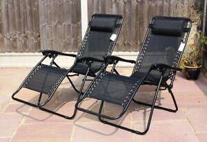 Recliner Beach Chair Bed Garden Patio Outdoor Folding Textoline Sun Lounger