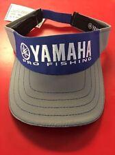 Yamaha Outboards Blue Grey Visor Fishing Hat Boating Bass Genuine CRP-15VPF-BL-N