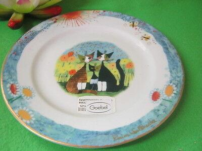 Frühstücksteller  Katze Maria u Marlo  Nr 2  Rosina  Wachtmeister  von  Goebel