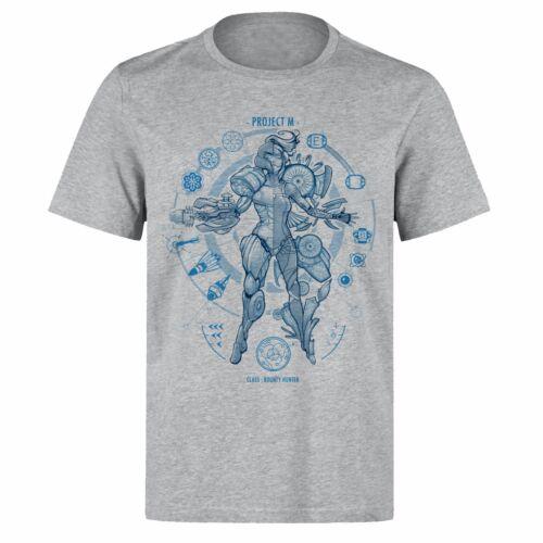 MEGAMAN PROJECT M BOUNTY HUNTER BLUE FONT UNISEX PH66 GREY T-SHIRT