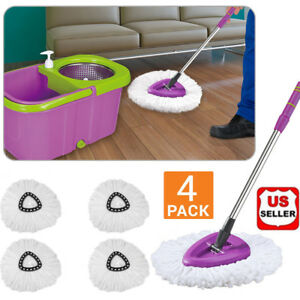 Lot-of-4-Microfiber-Mop-Head-Refill-Replacement-for-Magic-Mop-360-Spin