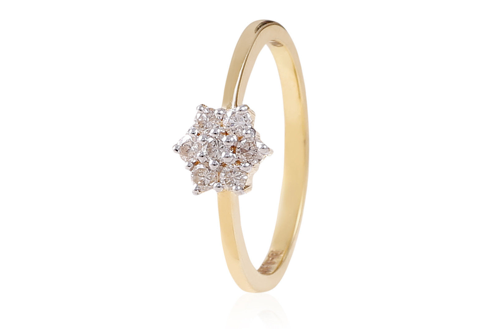 Pave 0.30 Cts Round Brilliant Cut Natural Diamonds Anniversary Ring In 18K gold