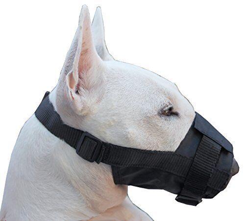 NEW Nylon Dog Muzzle Adjustable Black Large  10  13.5  Snout FREE SHIPPING