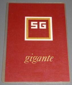 Calendario Del 1979.Detalles De Calendario De La Marca De Tabaco Sg Gigante Del Ano 1979