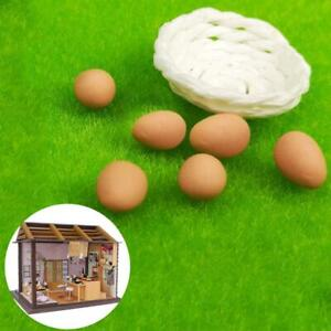 A-basket-with-6x-Egg-Toy-RE-ment-Food-For-Dollhouse-Miniature-1-12-Kitchen-Food